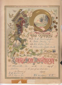 Kimbrough Bible - Matrimony Page
