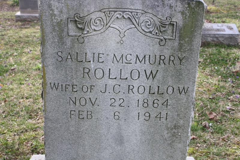 Rollow Sallie McMurry Headstone Rossview